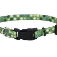 "5/16"" GREEN DOTS DOG COLLAR"