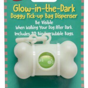 BAG DISPENSER GLOW-IN-DARK + 20