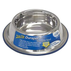 DURAPET STAINLESS STEEL NON-TIP DOG BOWL
